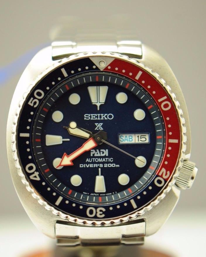 SEIKO PROSPEX SRPA21 PADI STAINLESS STEEL MENS 200M DIVERS AUTOMATIC WATCH