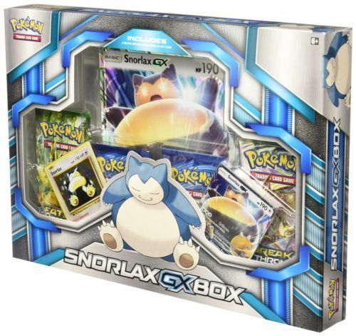 SNORLAX GX box XY POKEMON TCG INCLUDES BOOSTER PACKS