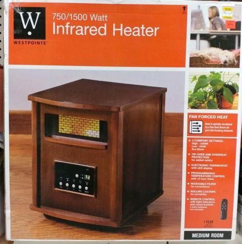 750/1500 Watt electric space heater infrared heater