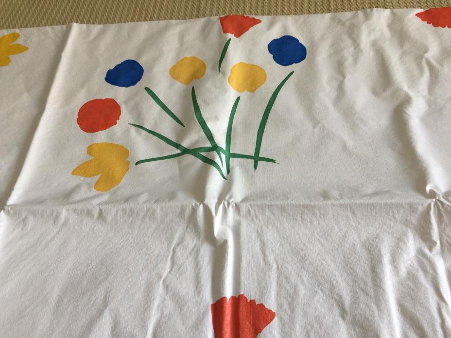 Vintage Marimekko Vinyl Flannel Back Tablecloth Seven Flowers No. 159