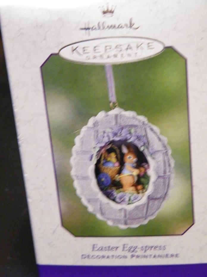Hallmark Keepsake Easter Egg-Spress Ornament In Box Mint Condition 2002