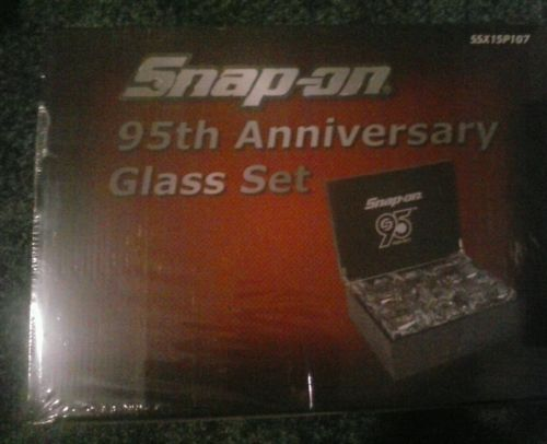 Snap on 95th anniversary glass set brand new