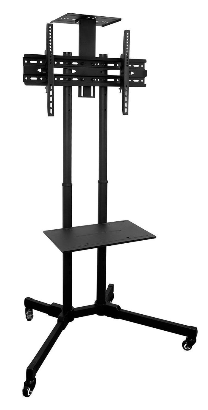 Mount-It! Cart Mobile TV Stand Wheeled Height Adjustable Flat Screen 37-70 Inch