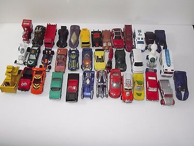 Mixed Lot of over 30 Die-cast Cars Hot Wheel Matchbox & More Various Conditions