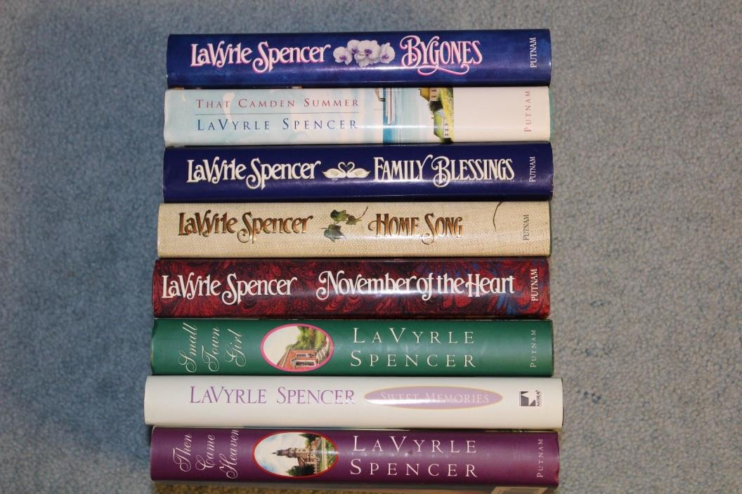 Lot of 8 La Vyrle Spencer Books, Hardcovers with DJs (all very good to like new)