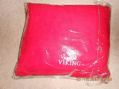 Viking River Cruises Plush Red Blanket in Zippered Carrying Bag NWT