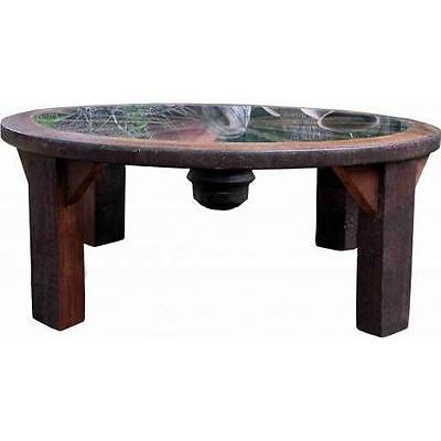 Groovystuff Shoshone Teak Wood Coffee Table With Glass Top - Tf-293-a