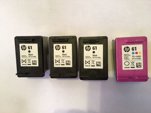 Hp 61 Ink Cartridge Genuine (Empty Lot Of 4)