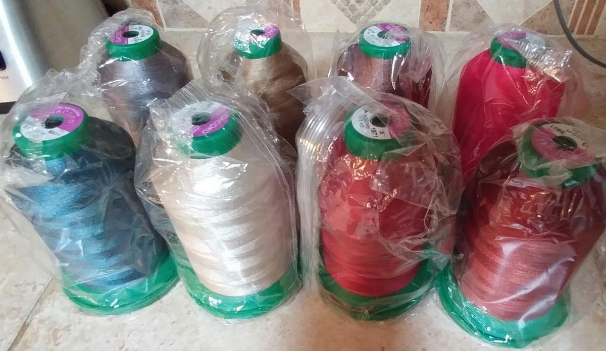 Isacord Thread in Large 5000m size,  8 Rolls Assorted, New in wrapping