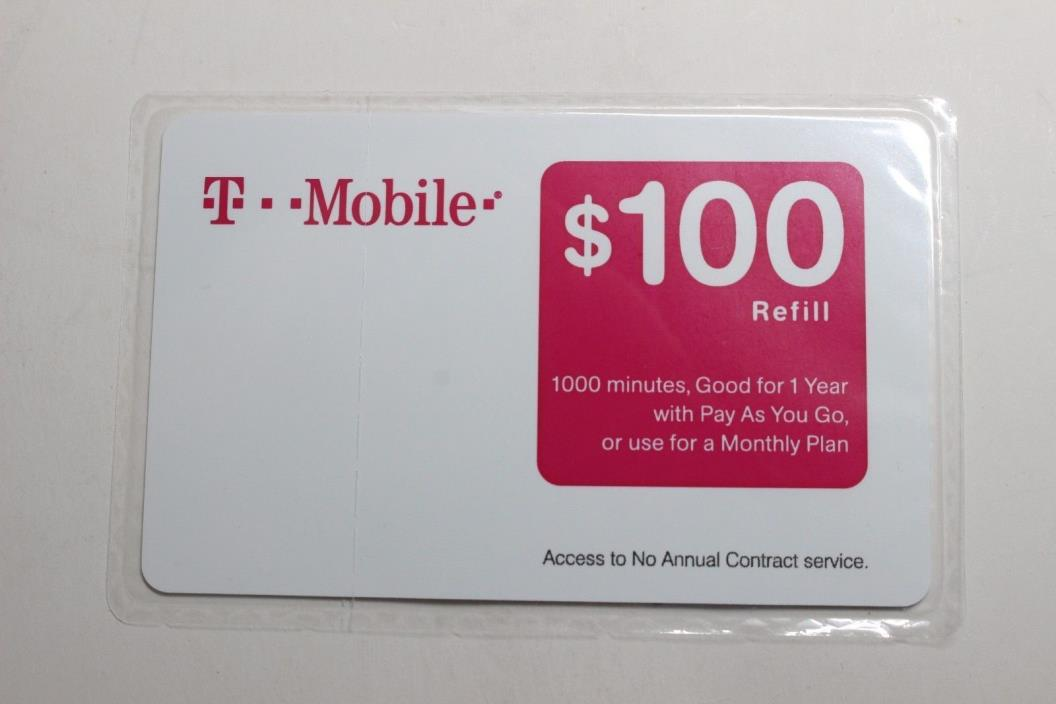 T-Mobile $100 Refill Card - No Tax