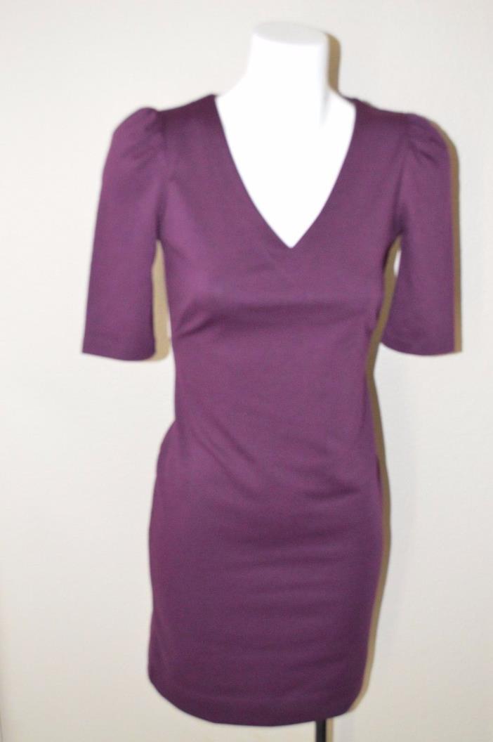 Banana Republic Dress Size 2 Plum Knee Length Career/Work