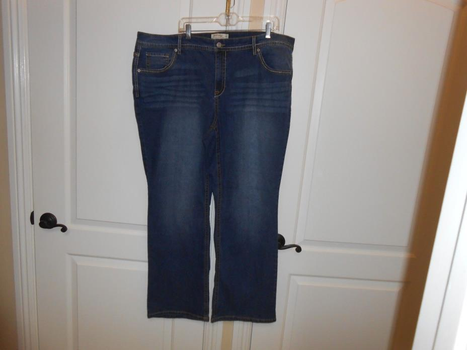 NEW WOMEN'S PLUS SIZE DENIM JEANS  SIZE 24W