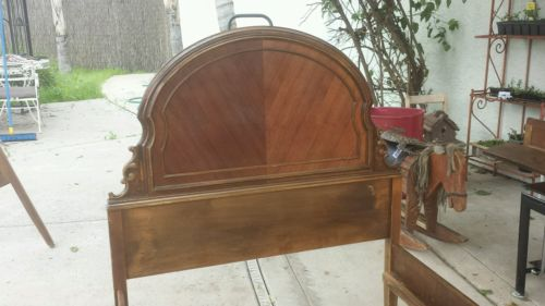 Antique twin bed pair