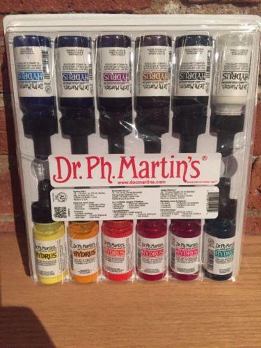 Dr. Ph. Martin's HYDRUS Fine Art WATERCOLOR (Set 1) 12 .5oz Bottles NEW / SEALED