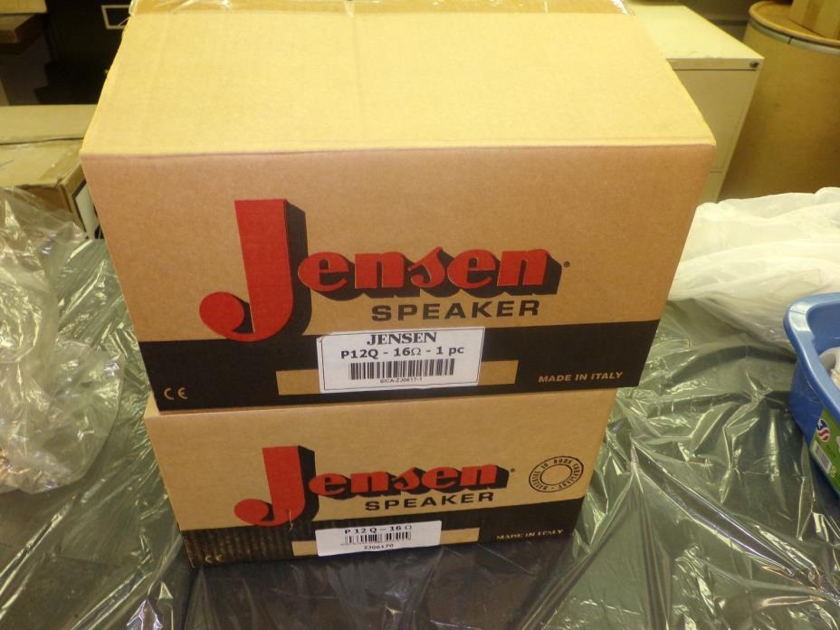 Pair of Brand New Jensen P12Q Guitar Speakers 16 ohms each
