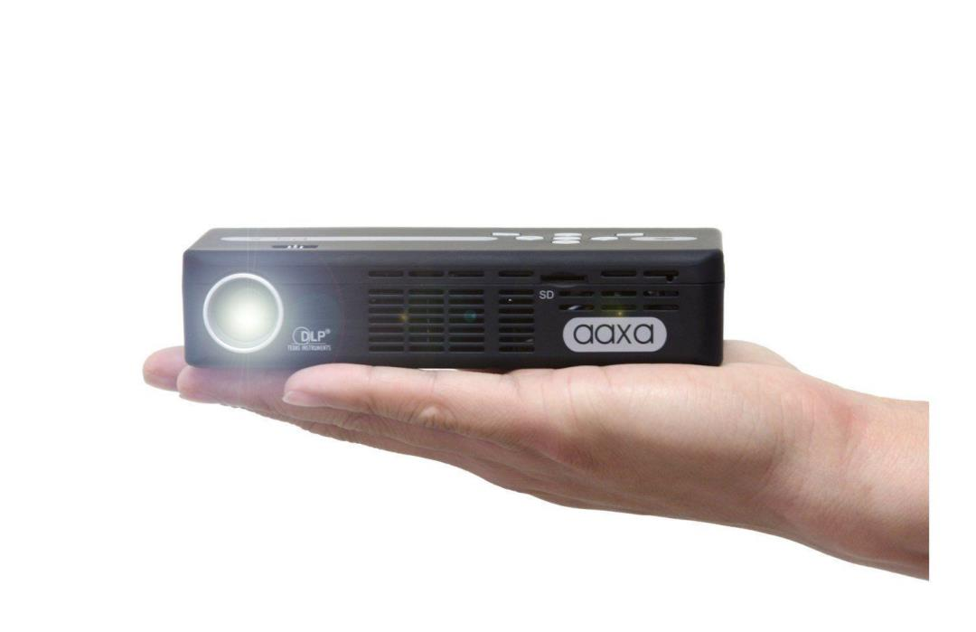 BRAND NEW AAXA P4-X LED Pico Projector Pocket Size Media Player, mini-HDMI