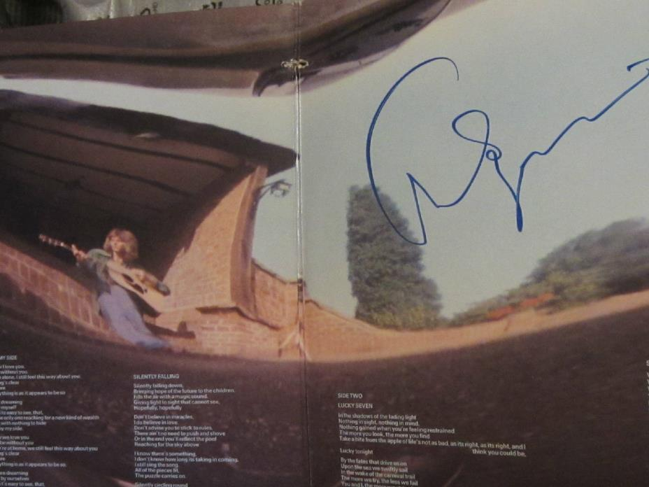 CHRIS SQUIRE SIGNED Autograph in FISH OUT OF WATER Vinyl Record In Store NJ +DVD