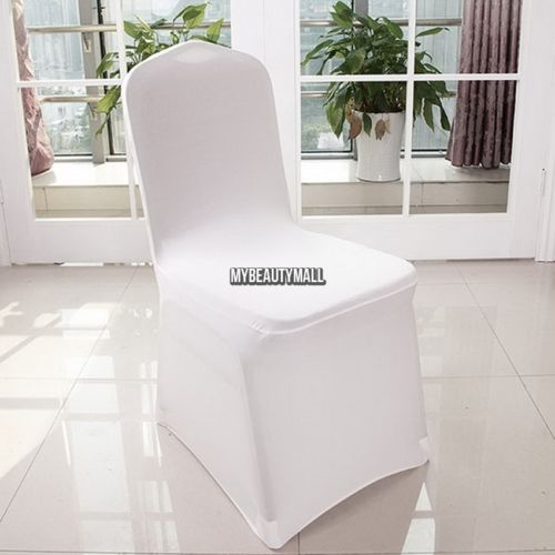 200x White Lycra Spandex Stretch Chair Covers Wedding Party Event Banquet MY8L