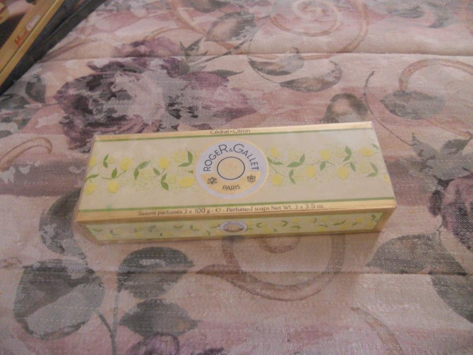 ROGER & GALLET PARIS SAVONS 3 PERFUMED SOAPS - NEW FACTORY SEALED - 3 x 3.5 OZ.