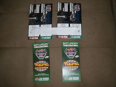 (2) Vegas Nascar tickets Fri n Sat and (2) Sat Neon Garage passes LVMS seats 4 5