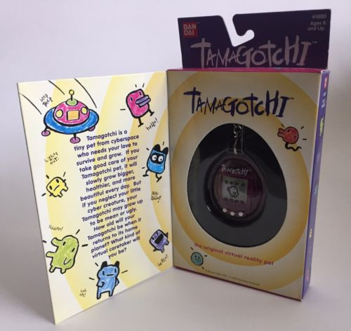 Original Tamagotchi NEW Mint Clear Purple 1996-1997 Bandai English Version