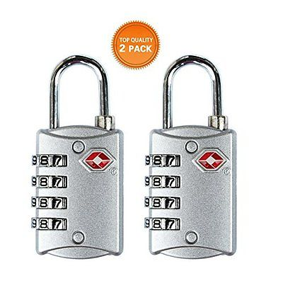 HT TSA Approved Luggage Locks 4 Digit Combination theft Protection on Our Heavy