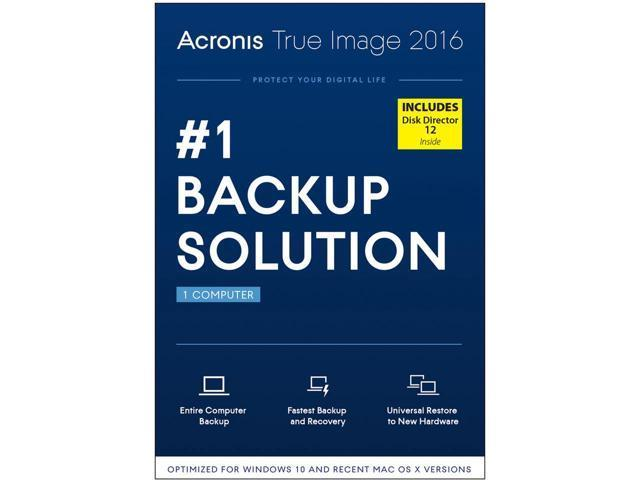 Acronis True Image 2016 w/ Disk Director 12 Bundle with FREE TRACKING