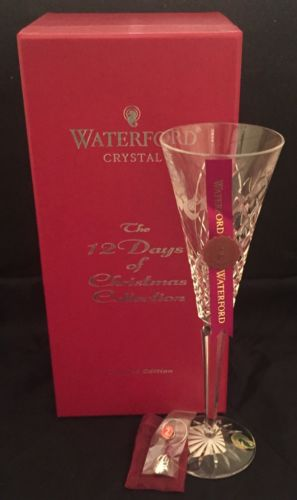 Waterford 12 Days Of Christmas Turtle Doves Toasting Flute in Box