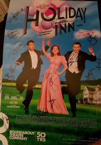 Holiday Inn signed Broadway poster Corbin Bleu Bryce Pinkham Lora Lee Gayer RARE