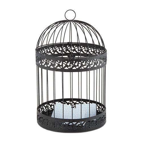 Black Decorative Birdcage Card Box Wishing Well Wedding Bridal Shower Decoration