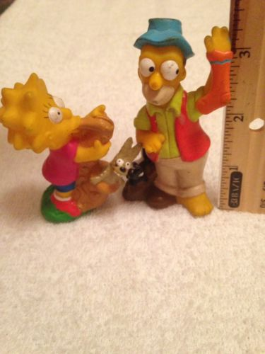Vintage Simpsons Homer And Lisa Figure Matt Groening 1990