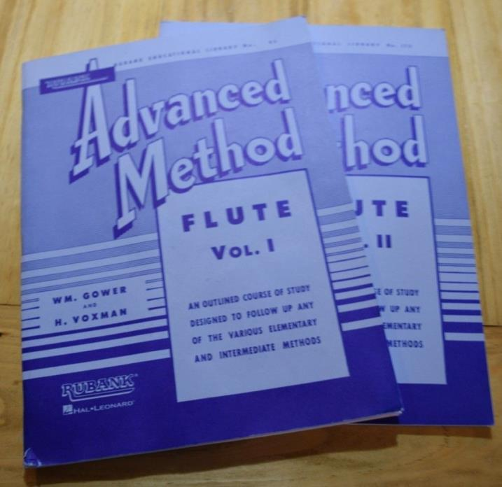 Rubank Advanced Method Flute Books VOL 1 & 2