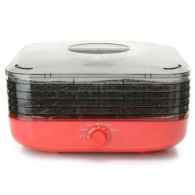 Cook's Companion Turbo Dehydrator w/ Five Stackable Trays - Red