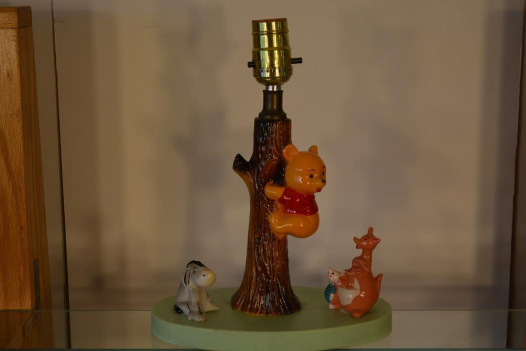 Winnie The Pooh AA Milne Lamp With Winnies Friends Lamp
