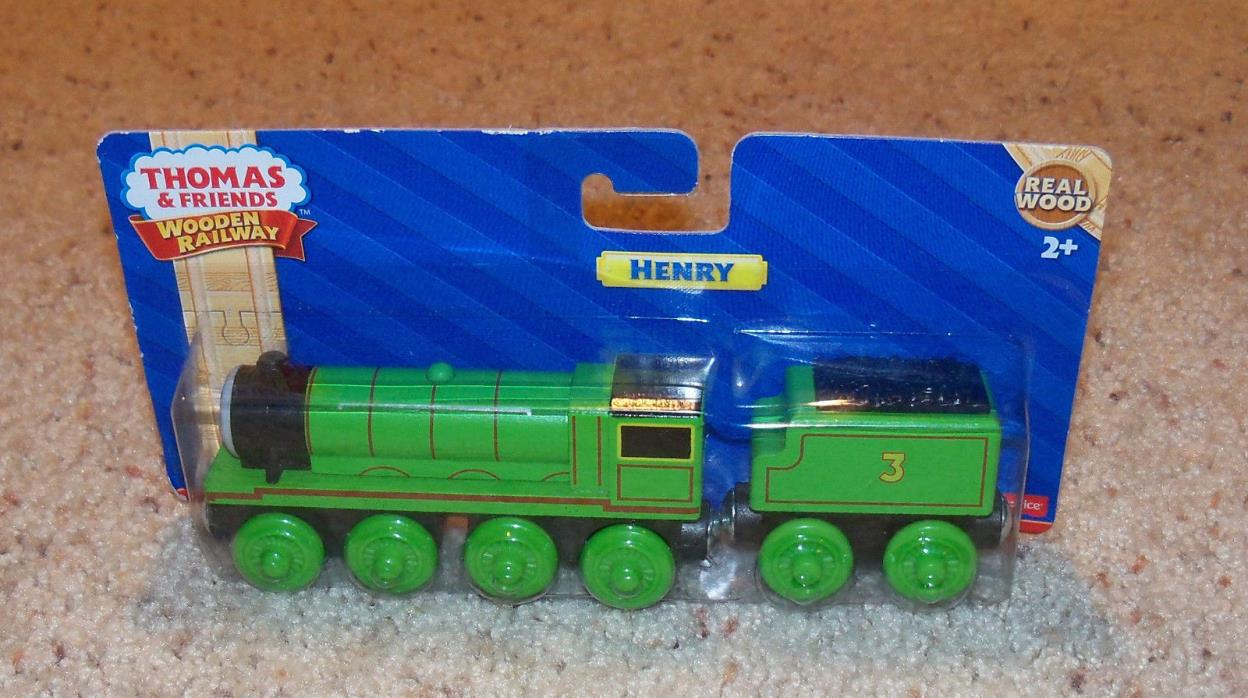 NEW IN BOX Thomas Train Wooden Henry, Wood Car