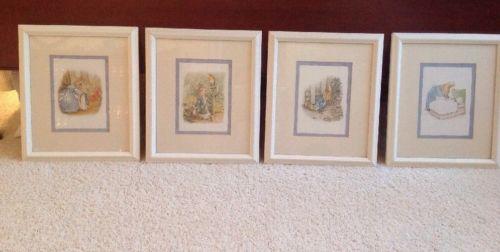 Beatrix Potter - The Story Of Peter Rabbit 4 Framed Prints