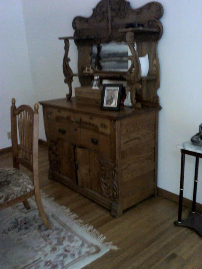 Antique Oak Buffet - 1890