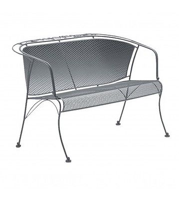 Woodard Briarwood Barrel Wrought Iron Garden Bench