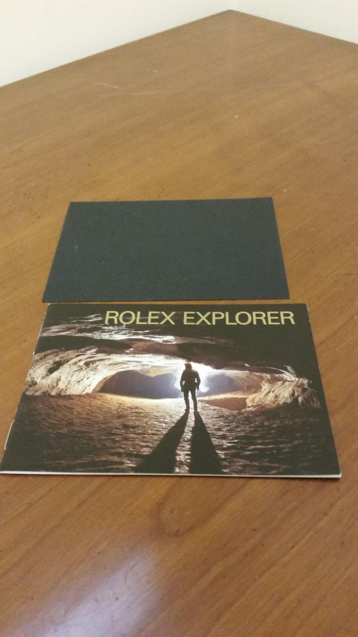 Rolex Explorer Watch Instruction Booklet Manual English 1994-2003