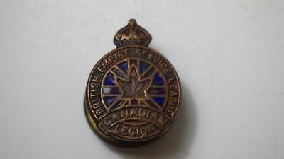 WWII Enamel British Empire Service League Canadian Legion