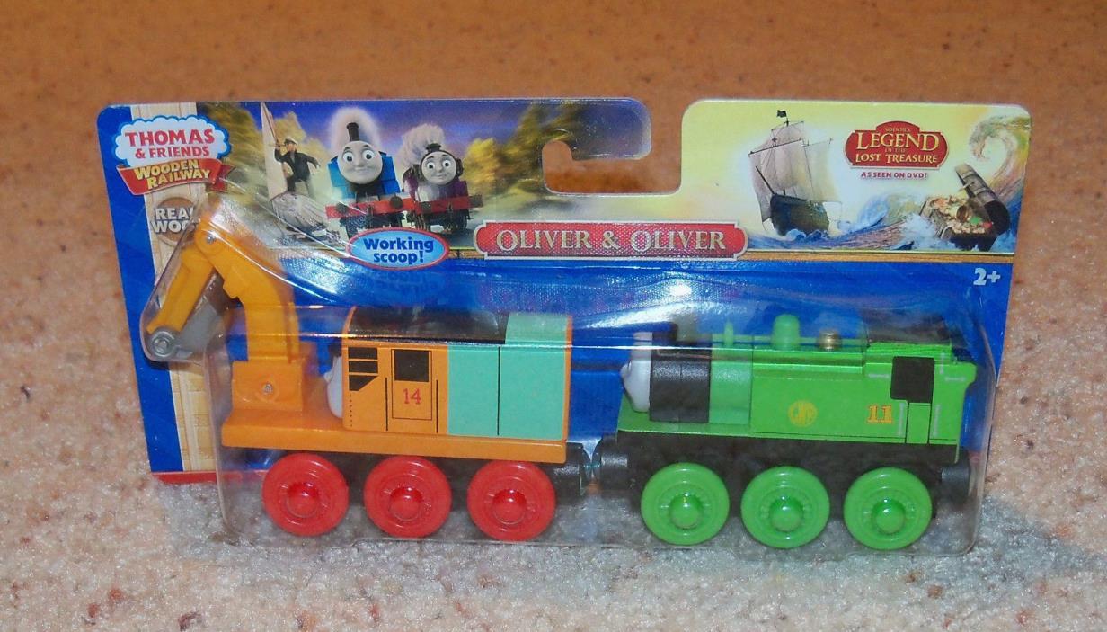 New Box NIB Thomas Train Wood, Wooden Car Set, Oliver & Oliver, Steam Shovel
