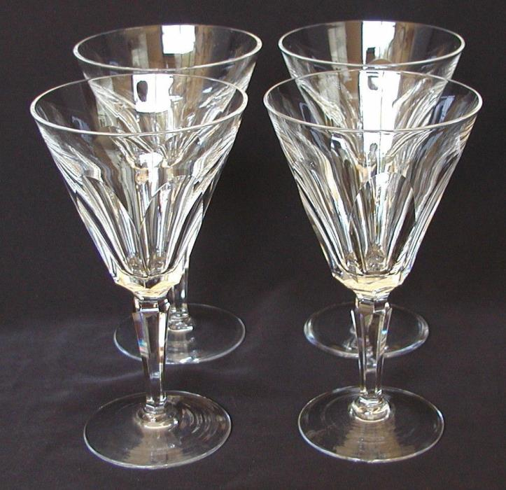 Waterford Crystal Sheila Pattern - Four Water Goblets