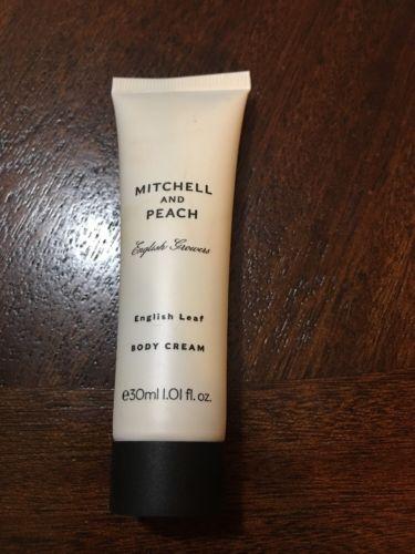 Mitchell And Peach English Leaf Body Cream 1.01 fl. oz. Travel Size - NEW