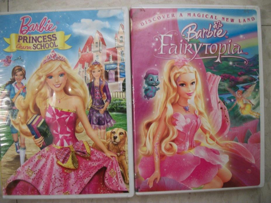 2  KIDS DVDs...BARBIE....  FREE SHIPPING