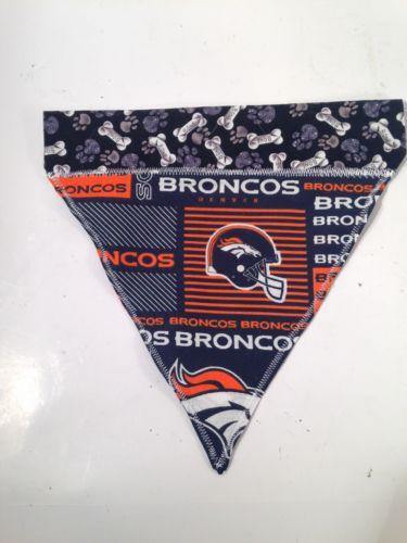 DENVER BRONCOS Dog Collar Bandana Scarf *NEW* Medium Size Dog