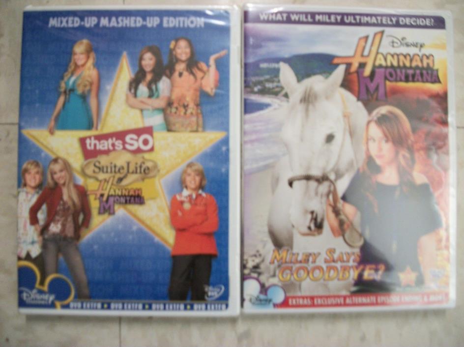 2  DISNEY DVDs.. HANNAH MONTANA New & Sealed  FREE SHIPPING