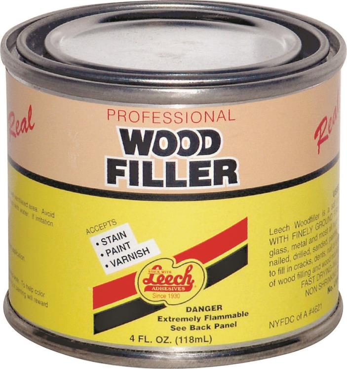 LEECH PRODUCTS LWF-67 WOOD FILLER 4OZ CAN