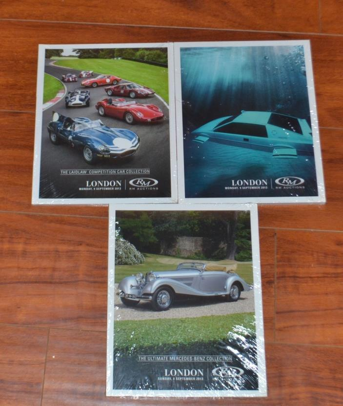 NEW  LOT OF 3 RM Auctions Car Catalog Sothebys SEPT. 2013 London Sports Classic