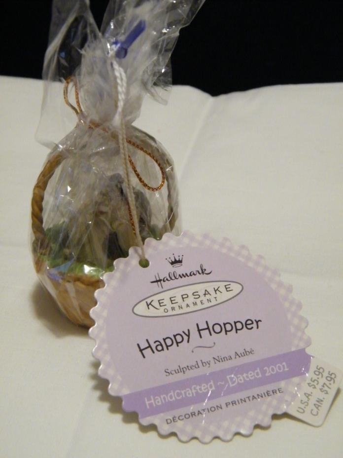 Hallmark Keepsake Ornament Basket W/Happy Hopper W/ Tag Wrapped Never Used 2001