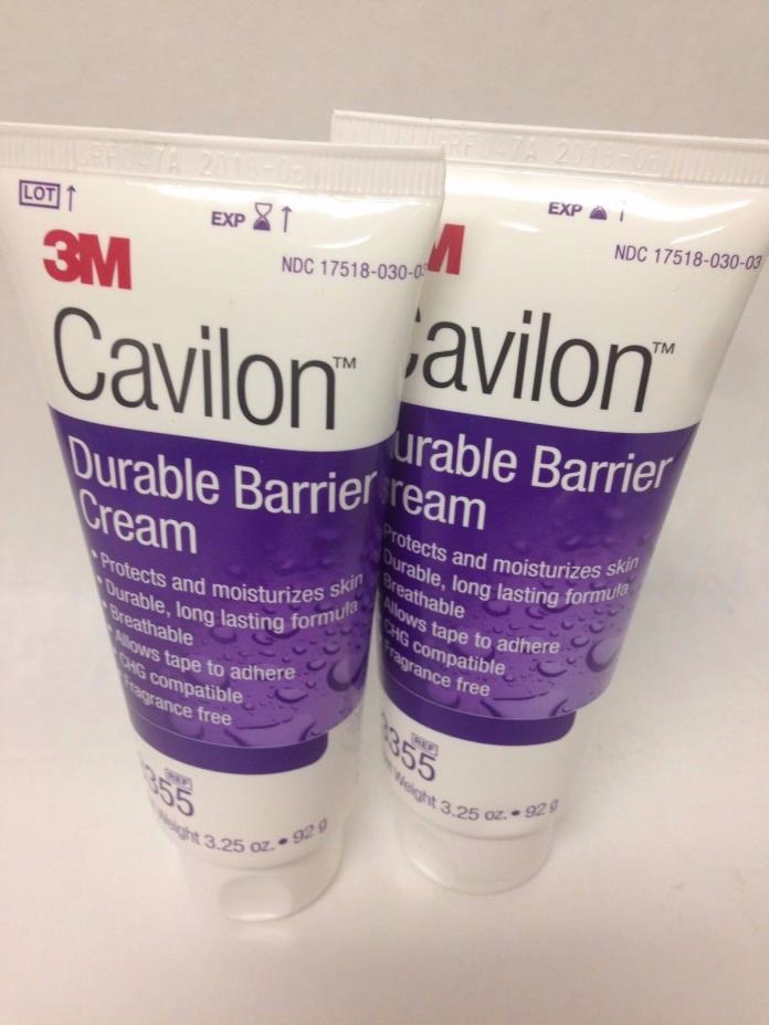 3M Cavilon Durable Barrier Cream, 3.25 oz, Fragrance Free, #3355 B16